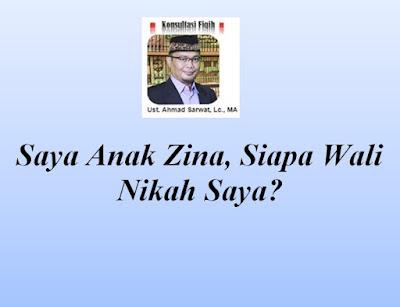 Saya Anak Zina, Siapa Wali Nikah Saya?