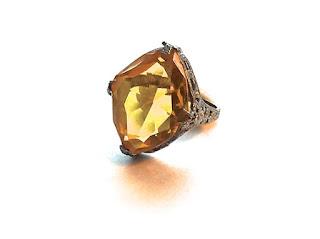 citrine  engagement ring