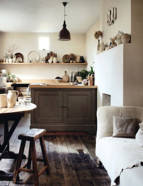 Rustic organic natural simple slow living kitchen - found on Hello Lovely Studio