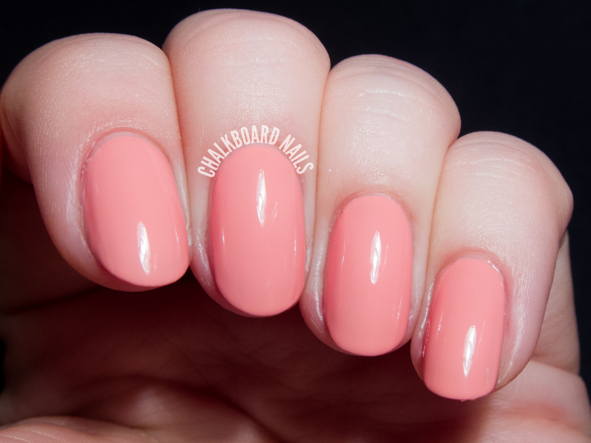 Girly Bits Lover's Coral via @chalkboardnails
