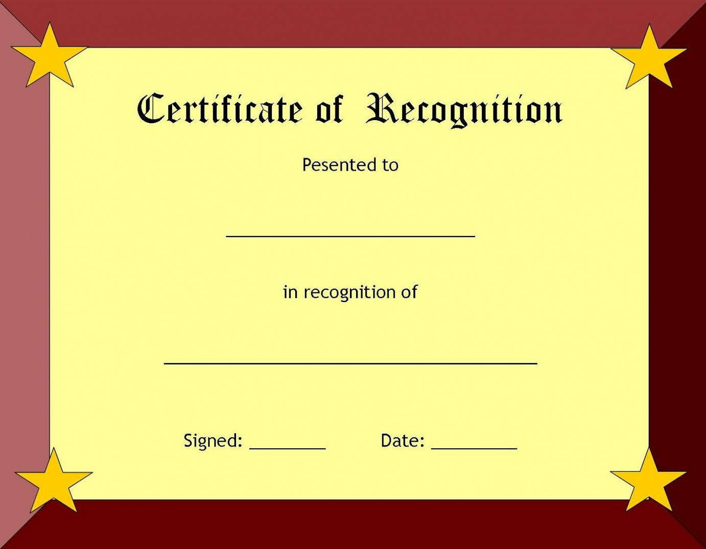 sample wording for certificate of appreciation