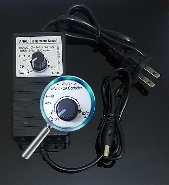 đổi nguồn adapter điều khiển nhiệt độ cho tấm nhiệt anadi