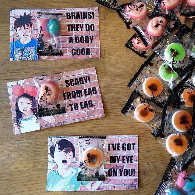 gummy body parts halloween treats for classroom friends