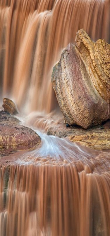 Chocolate Falls - A close up for Grand Falls In Arizona.