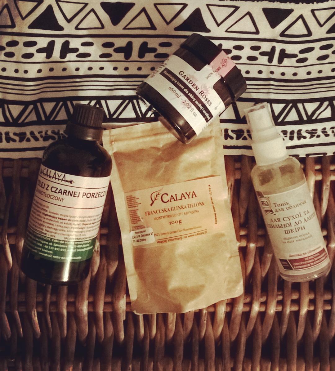 Jak dbać o suchą skórę twarzy zimą olej z czarnej porzeczki calaya, zielona glinka, krem róża make me bio opinie, tonik yaka