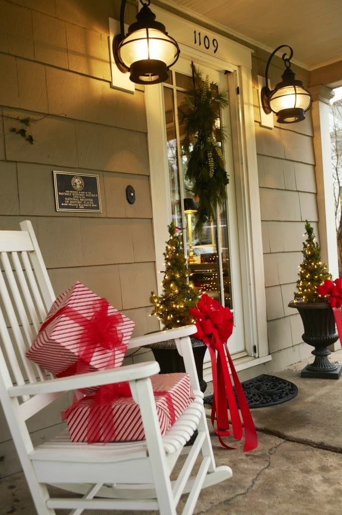 Xmas Decoration Ideas For Living Room: Christmas Ideas: 2013 Christmas Front Door Entry And Porch