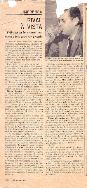 Revista Visão, em 29/5/1953