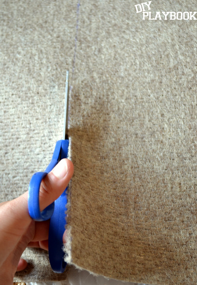 If you purchase a rug that is initially too large for your space, but it's a great deal, you can cut the rug to size during the project.