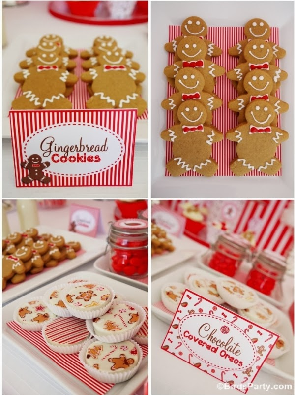 Christmas Candyland Gingrebread Cookies, Robins and cute printables - BirdsParty.com