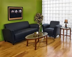 Mayline Santa Cruz Leather Lounge Furniture Set