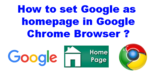 how to add homepage in google chrome