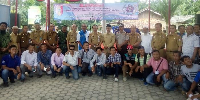 Pererat Silaturahmi,Pemda dan PWI Tuba Adakan Kerjasama dan Kemitraan