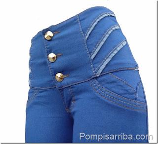Pantalones para gorditas en Zacatecas, pantalones de mezclilla a la cintura de dama