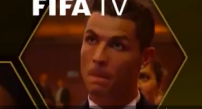 1l - Cristiano Ronaldo's reaction to Messi winning the Ballon d'Or