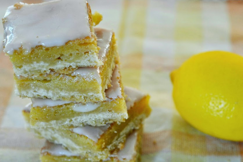 lemon cake bars recipe