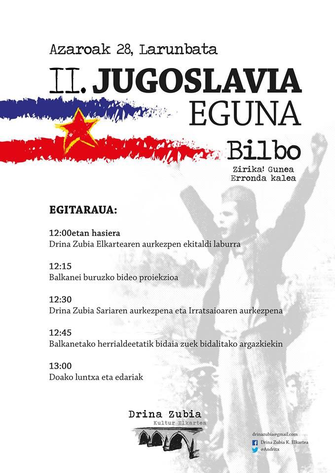 Suelta la olla: Larunbatean ospatuko diren II Jugoslavia eguna eta 12 ordu euskaraz Bilbin ekimenak gaurko saioan hizpide