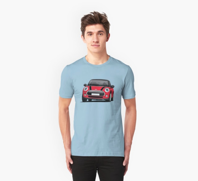 MINI Cooper D illustration t-shirt on Redbubble