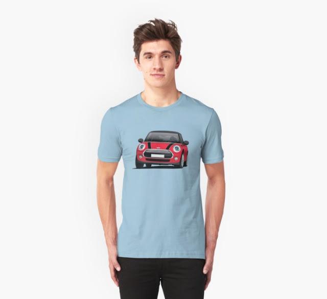 MINI Cooper D illustration t-shirt on Redbubble
