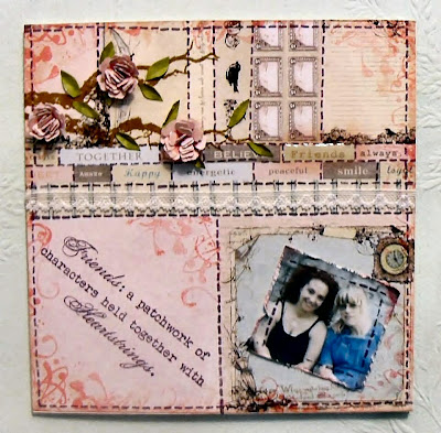 sewing room friends sentiment stamp