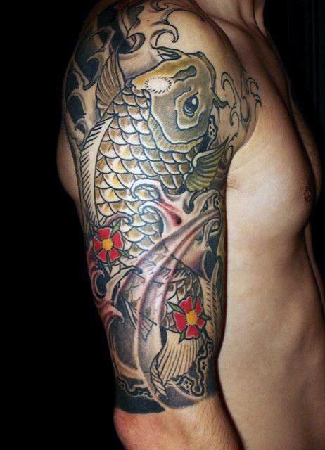 tatuajes de carpas koi para hombres s mbolo en jap n de la masculinidad belagoria la web. Black Bedroom Furniture Sets. Home Design Ideas