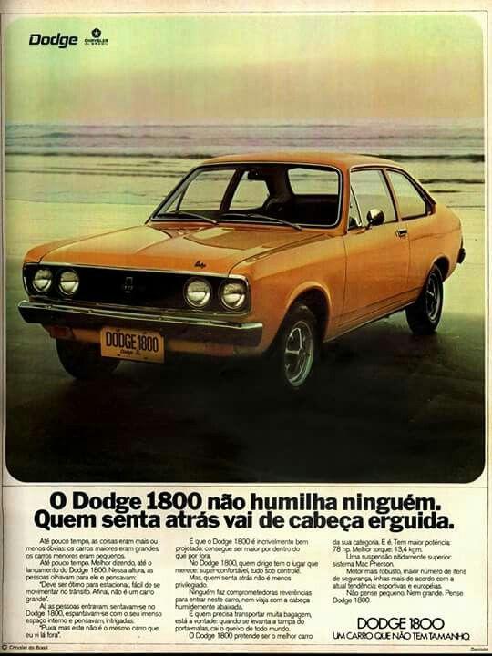 Campanha do Dodge 1800 no começo dos anos 70 com inovações da marca em um só automóvel
