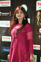 Monal Gajjar in Maroon Gown Stunning Cute Beauty at IIFA Utsavam Awards 2017 064.JPG