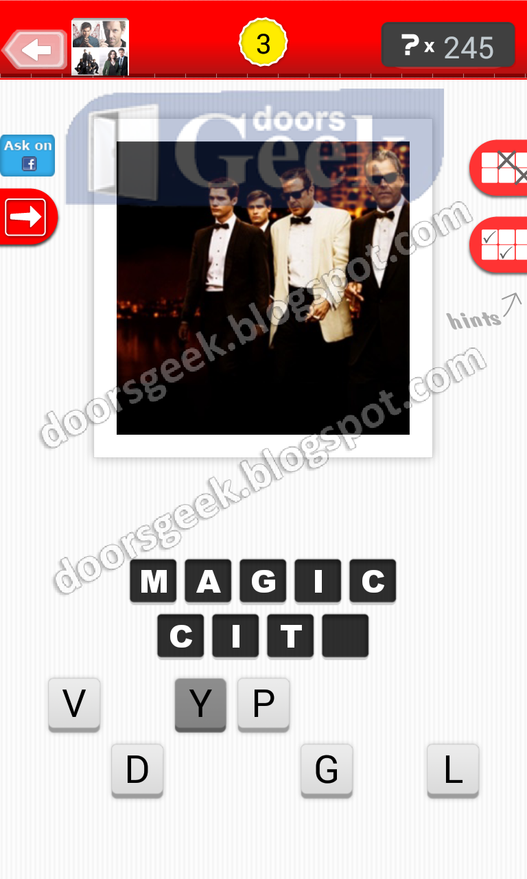 Guess the tv show level 17 3 answer doors geek for Solution wordbrain cuisine
