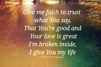 Give me faith by: Elevation Worship