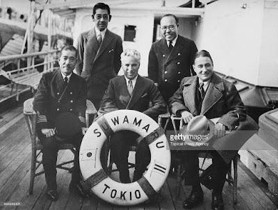 Чарли и Сид на борту Сувамару, 1932 г.