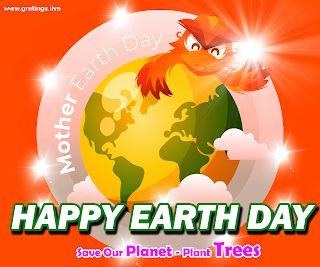 Save Mother Earth Images with Happy Earth Day message