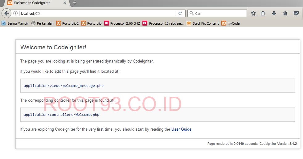 Membuat Website Dengan CodeIgniter : Instalasi dan