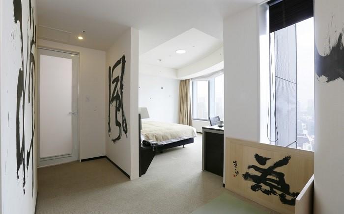 No. 2 Park Hotel Tokyo Artist Room 'Zen' designed by Seihaku Akiba