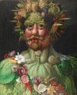 Giuseppe Arcimboldo's portrait, in fruit and  vegetables, of Holy Roman Emperor Rudolph II