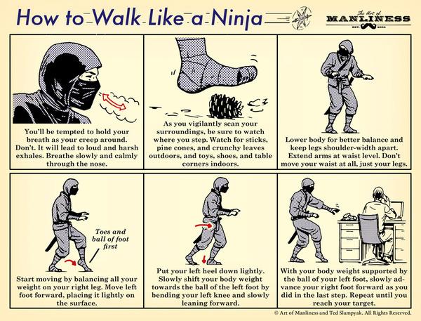 walk like a ninja