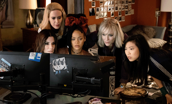 The all-female heist crew in OCEAN'S 8 (2018)