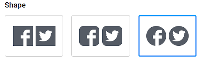 how to change shape of share buttons in images addthis