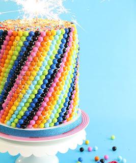 Sixlets Cake