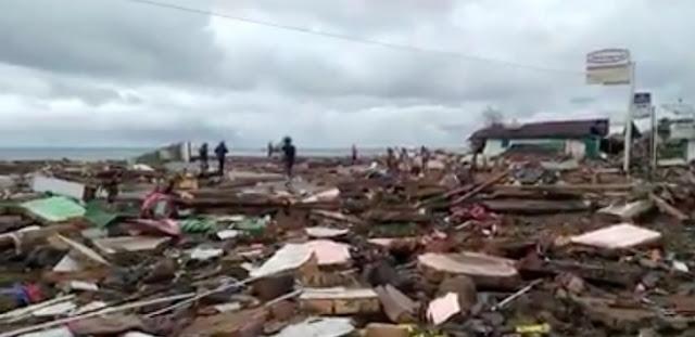 Dampak Tsunami Terparah di Waymuli, Mayat Bergelimpangan, Kondisi Gelap Gulita
