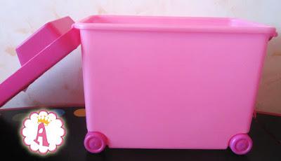 Коробка для кукол и аксессуаров барби на колесиках