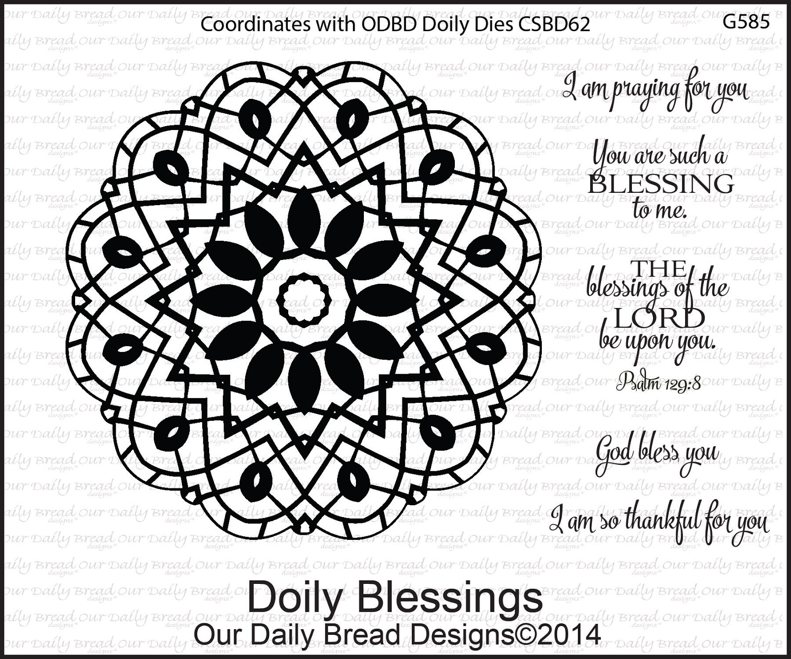 Stamps - Our Daily Bread Designs Doily Blessings