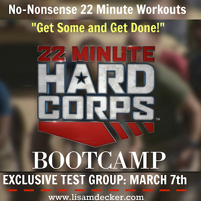 What is 22 Minute Hard Corps, 22 Minute Hard Corps, New Tony Horton fitness program, Support, Accountability, Meal Planning, Military Style Workouts, Short Workouts, Lisa Decker, 22 Minute Hard Corps Results, 22 Minute Hard Corps test group