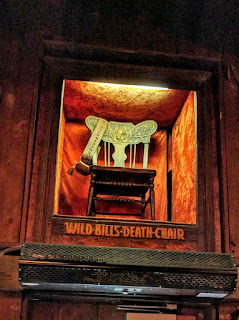 Wild Bill's chair, Saloon #10, Deadwood, South Dakota