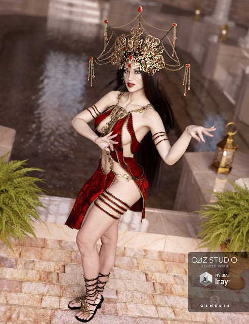 Mistress Arachne Outfit for Genesis 3 Female