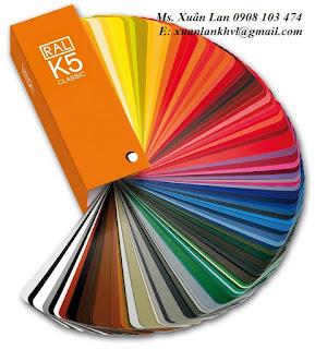 Quạt màu sơn Ral k5. K7 của Đức