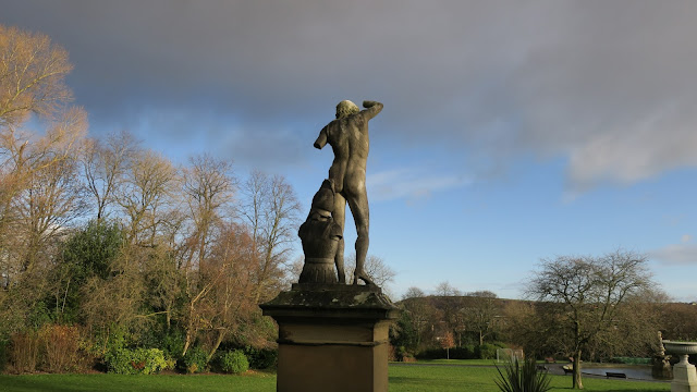 Statue of Telemachus in The People's Park, Halifax, West Yorkshire.