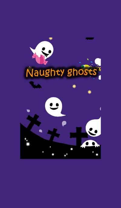 Naughty ghosts of Halloween