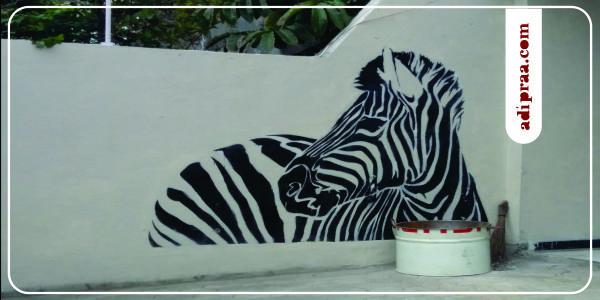 Enjoy Mural Jogja: Zebra | adipraa.com