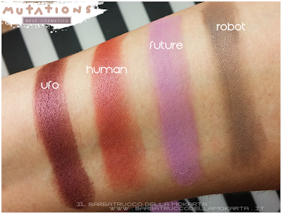SWATCHES -  Collezione Mutations - Neve cosmetics
