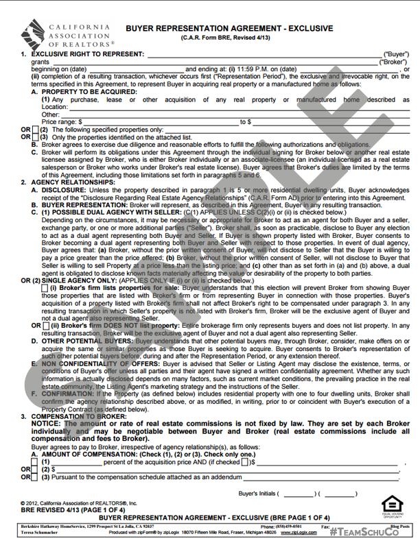 Fillable online buyer / broker agreement ann joliet fax email.