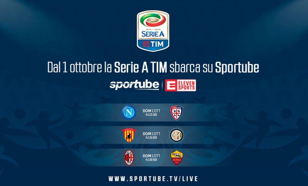Streaming Calcio Serie A: 3 partite a giornata da vedere su Sportube Live Online